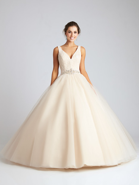 Q536 (ivory) Prom                                             dress by Allure Quinceanera