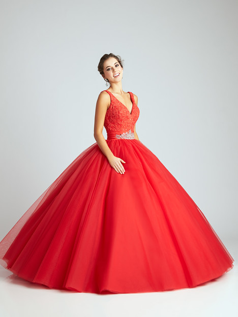Q536 (red) Prom                                             dress by Allure : Quinceanera
