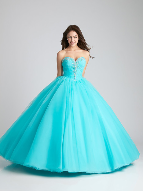 Q537 (aqua) Prom                                             dress by Allure : Quinceanera