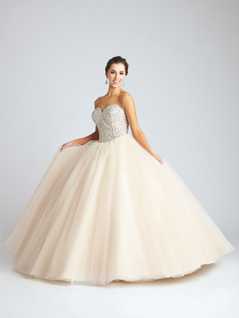 Q538 (ivory) Prom                                             dress by Allure : Quinceanera