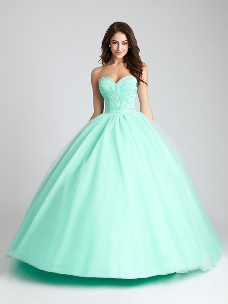 Q539 (light green) Prom                                             dress by Allure : Quinceanera