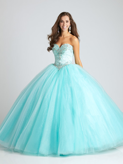 Q541 (aqua) Prom                                             dress by Allure : Quinceanera