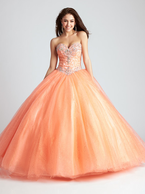 Q541 (orange) Prom                                             dress by Allure : Quinceanera