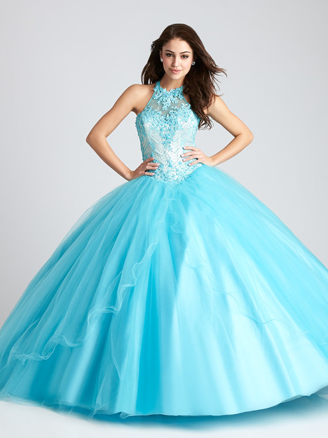 Q542 (turquoise) Prom                                             dress by Allure : Quinceanera
