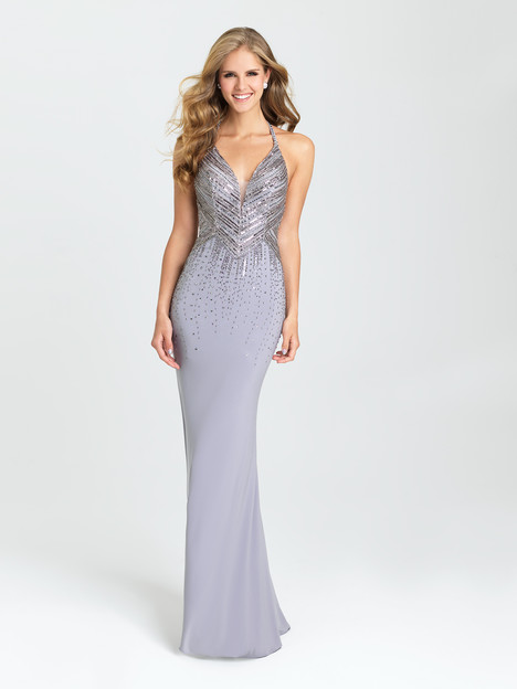 16-405 (silver) Prom                                             dress by Madison James Special Occasion