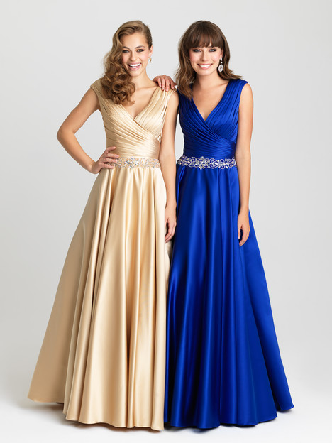 16-419 (champagne & royal) Prom                                             dress by Madison James : Prom