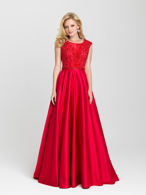 16-504M (red) Prom                                             dress by Madison James: Special Occasion