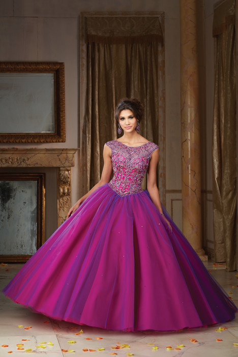 89104 (fuchsia & deep purple) Prom                                             dress by Morilee Vizcaya