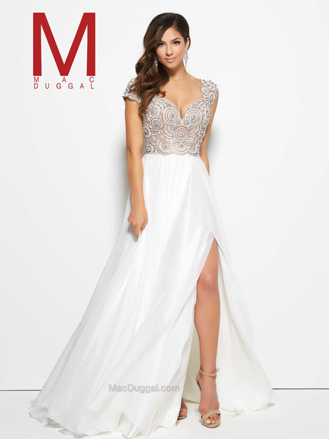 10081M (ivory & nude) Prom                                             dress by Mac Duggal Prom