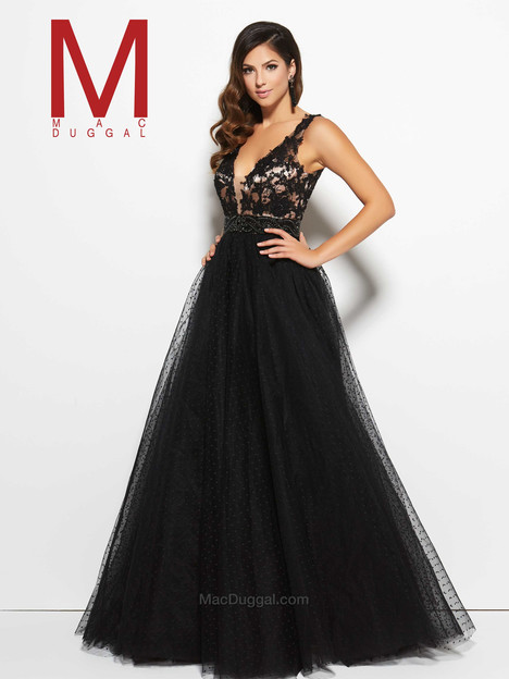 10100M (black & nude) Prom                                             dress by Mac Duggal Prom