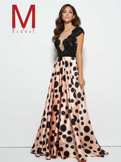 20030M (black & blush) Prom                                             dress by Mac Duggal Prom
