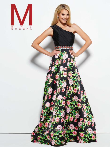 30267M (black & multi) Prom                                             dress by Mac Duggal Prom