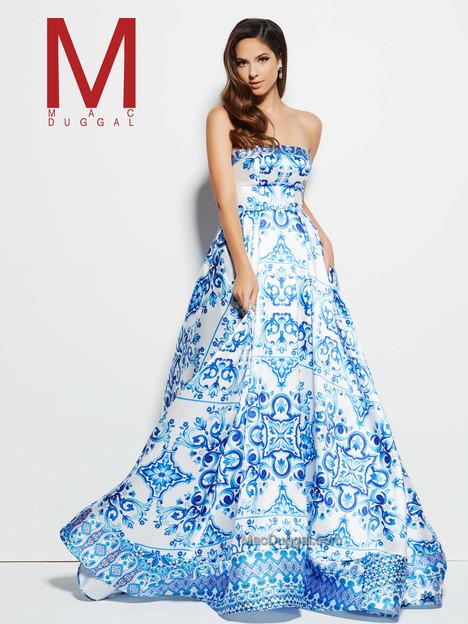 30274M (blue & multi) Prom                                             dress by Mac Duggal Prom