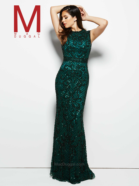 4265M (bottle green) Prom                                             dress by Mac Duggal Prom
