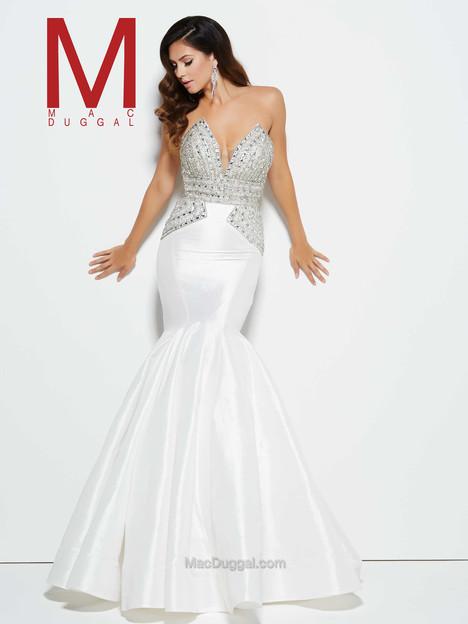 62248M (white & silver) Prom dress by Mac Duggal Prom