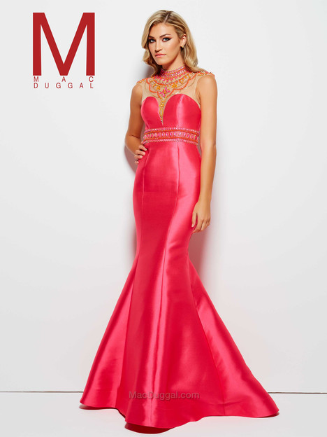 62341M (lipstick pink) Prom                                             dress by Mac Duggal Prom