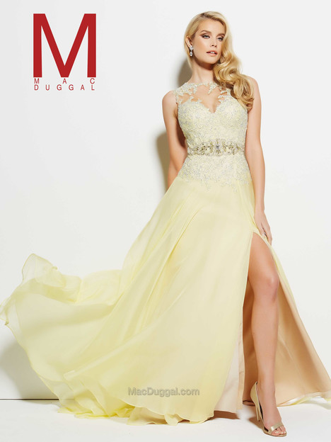 62388M (lemon) Prom                                             dress by Mac Duggal Prom