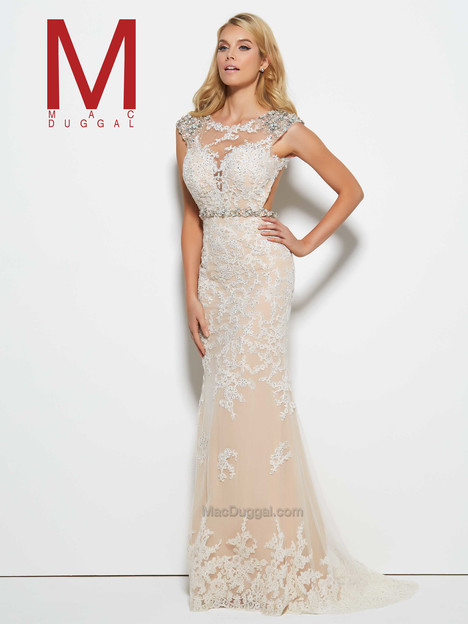 62389M (candle light) Prom                                             dress by Mac Duggal Prom