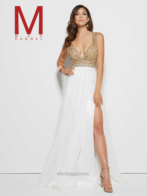 65334M (ivory gold) Prom dress by Mac Duggal Prom