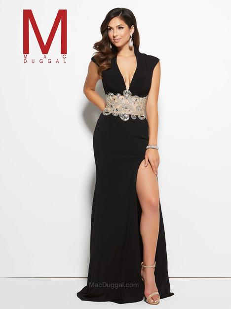 82228M (black) Prom                                             dress by Mac Duggal Prom