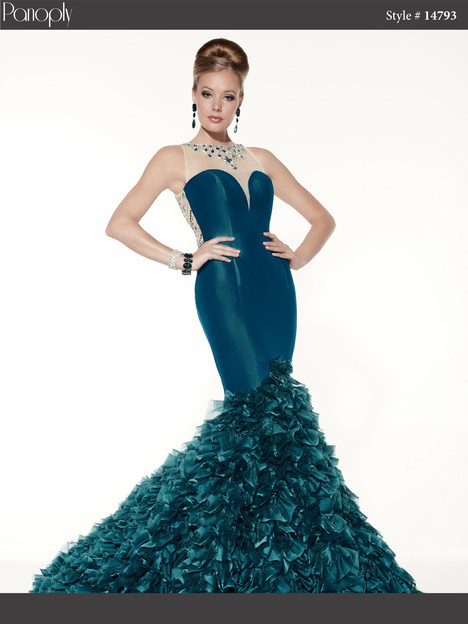 14793 (peacock) Prom                                             dress by Panoply