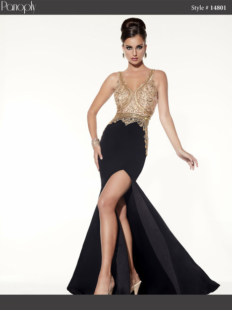 14801 (black & gold) Prom                                             dress by Panoply