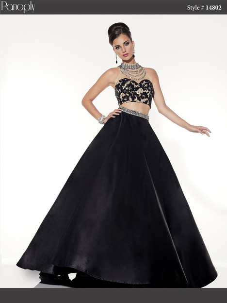 14802 (black & nude) Prom                                             dress by Panoply