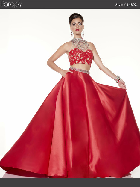 14802 (red & nude) Prom                                             dress by Panoply