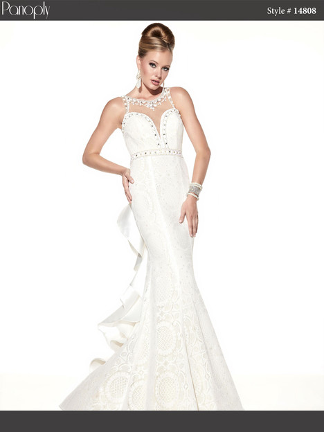 14808 (white & nude) Prom                                             dress by Panoply
