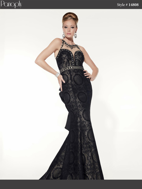 14808 (black & nude) Prom                                             dress by Panoply