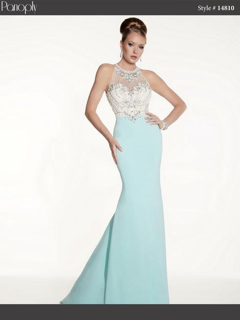 14810 (aqua & ivory) Prom                                             dress by Panoply