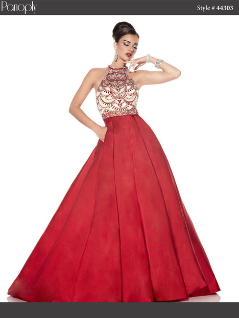 44303 (red) Prom                                             dress by Panoply
