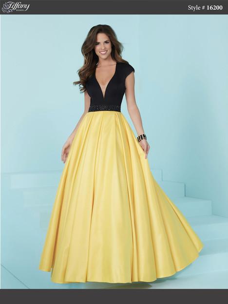 16200 (black & daffodil yellow) Prom                                             dress by Tiffany Designs