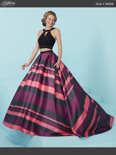 16210 (black & lipstick pink) Prom                                             dress by Tiffany Designs