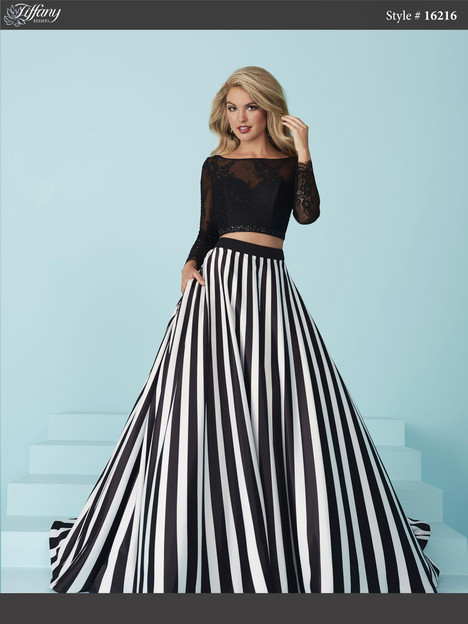 16216 (black & white) Prom dress by Tiffany Designs