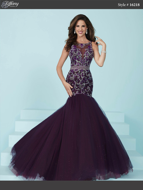 16218 (eggplant) Prom dress by Tiffany Designs