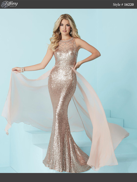 16220 (rose gold) Prom                                             dress by Tiffany Designs