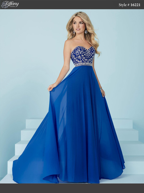 16221 (royal) Prom                                             dress by Tiffany Designs