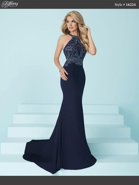 16224 (navy) Prom dress by Tiffany Designs