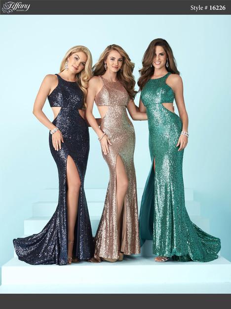 16226 (navy, rose gold & shamrock) Prom dress by Tiffany Designs