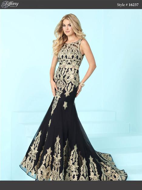 16237 (black & gold) Prom dress by Tiffany Designs