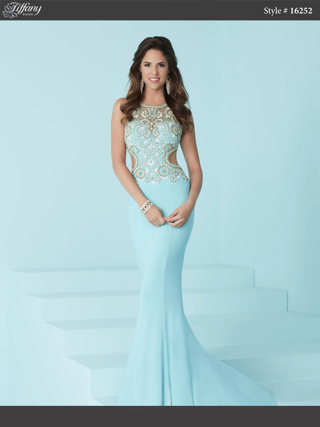 16252 (blue & gold) Prom                                             dress by Tiffany Designs