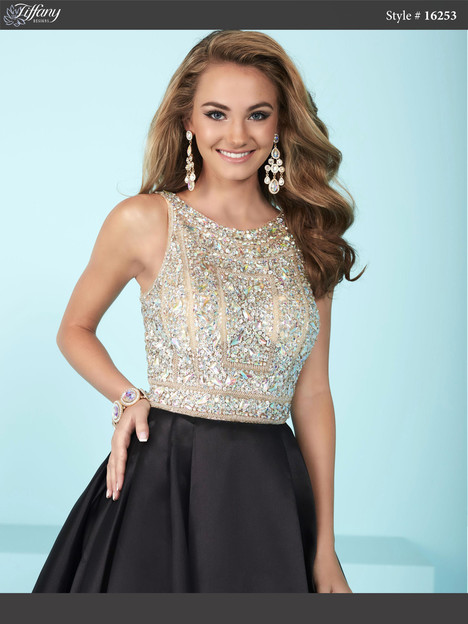 16253 (black & nude) Prom                                             dress by Tiffany Designs