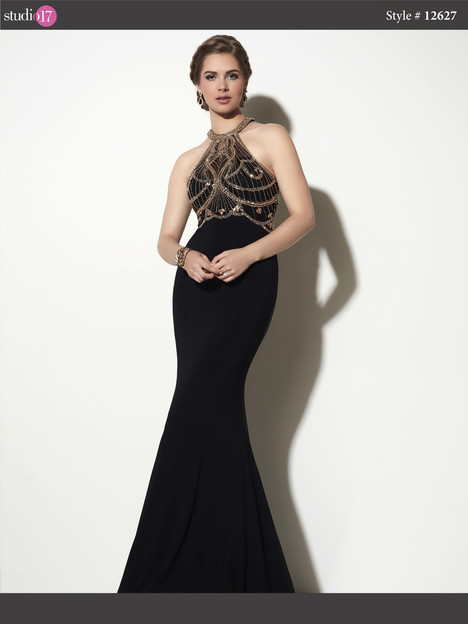 12627 (black & gold) Prom                                             dress by Studio 17