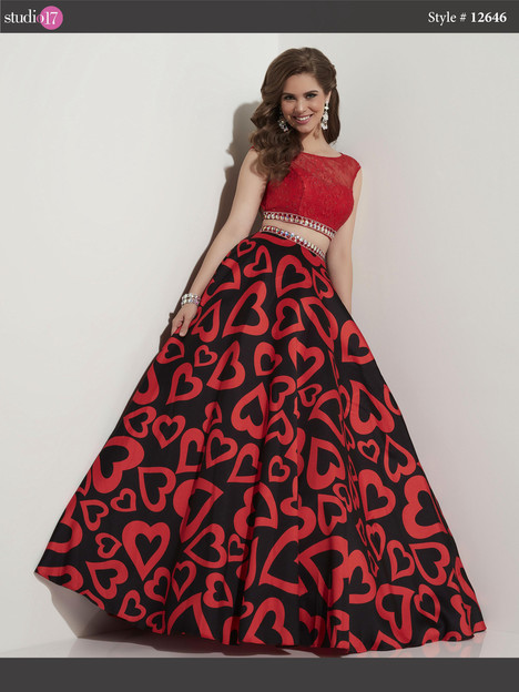 12646 (queen of hearts red) Prom                                             dress by Studio 17