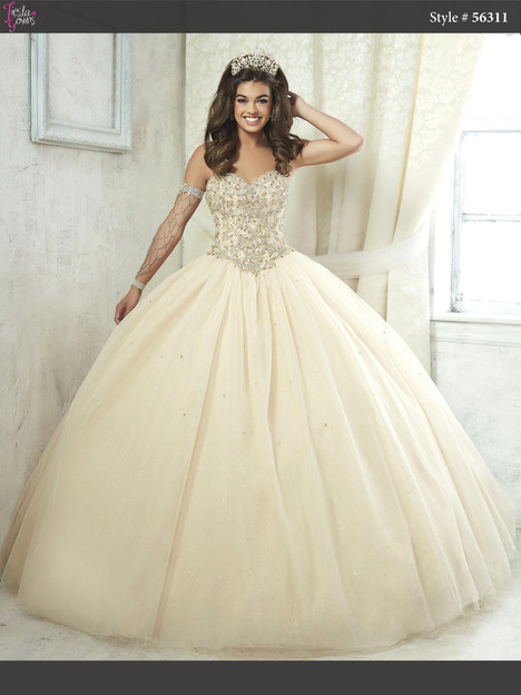 56311 (champagne) Prom                                             dress by Fiesta