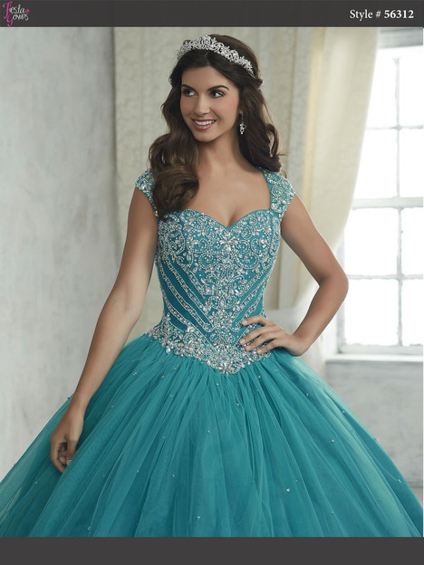 56312 (teal) Prom                                             dress by Fiesta