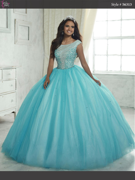 56313 (turquoise & ivory) Prom                                             dress by Fiesta