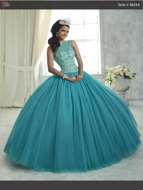 56314 (peacock) Prom                                             dress by Fiesta