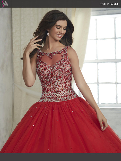 56314 (red) Prom                                             dress by Fiesta